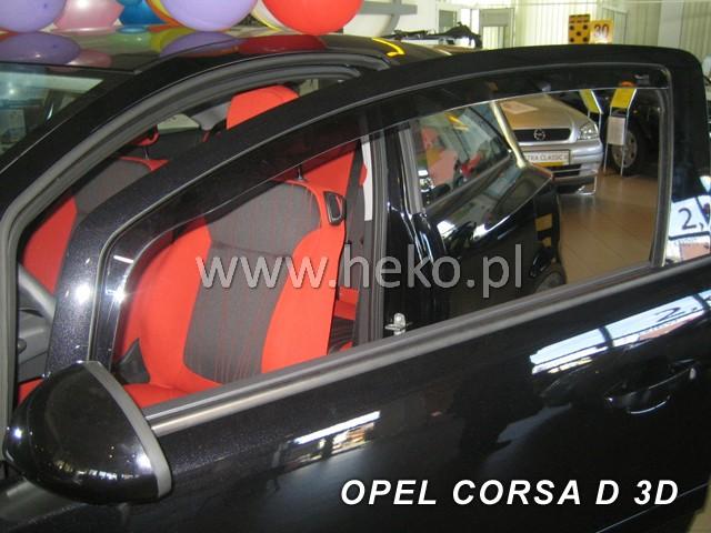 Ofuky oken Opel Corsa D 5dveř 06- před.+zadní Heko