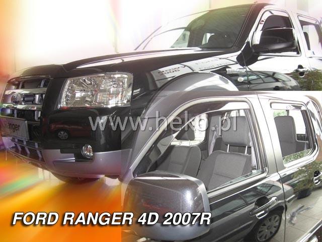Ofuky oken Ford Ranger 4dveř 07- před.+zadní Heko