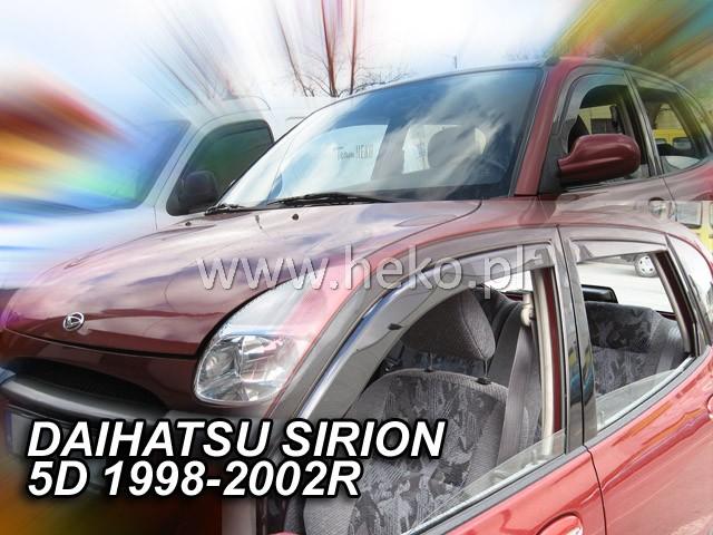 Ofuky oken Peugeot 4007 5dveř 08- před.+zadní Heko