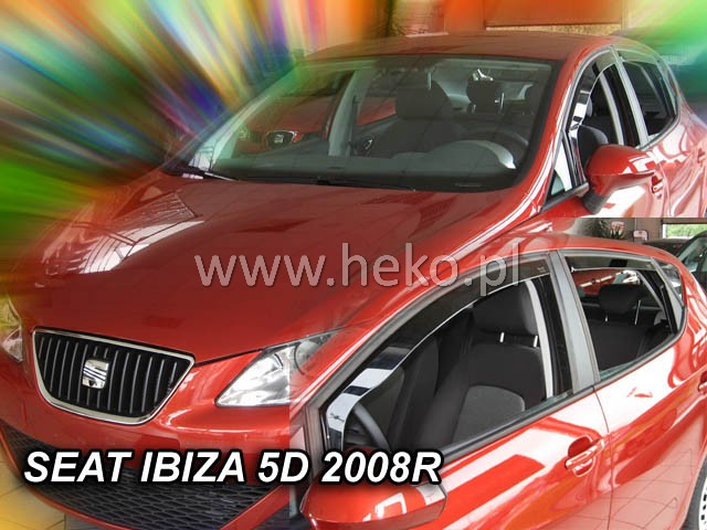 Ofuky oken Seat Ibiza 5dveř přední 08- Heko