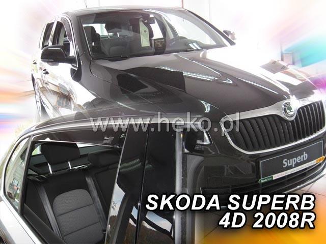 Ofuky oken Škoda Superb II 2008-2015 přední Heko
