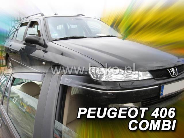 Ofuky oken Peugeot 405 4dveř 92- před.+zadní sed Heko
