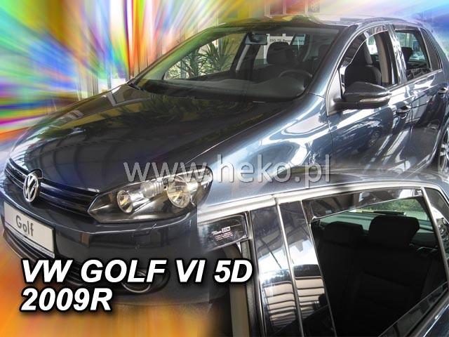 Ofuky oken VW Golf VI 5dveř přední 08- Heko