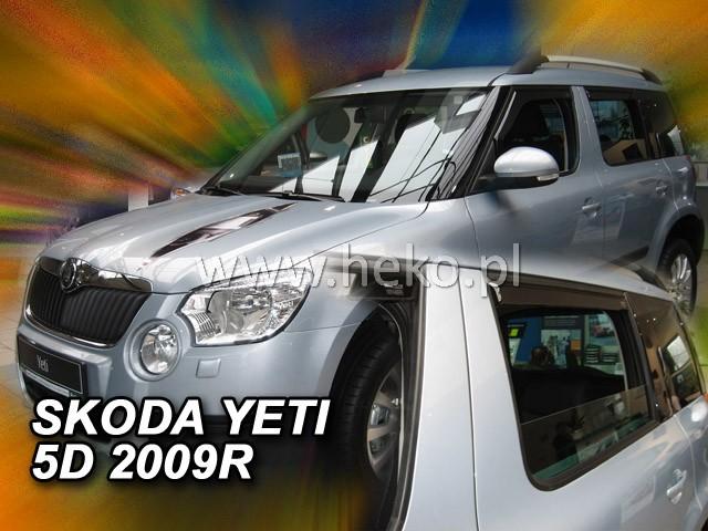 Ofuky oken Škoda Yeti 2009- přední Heko