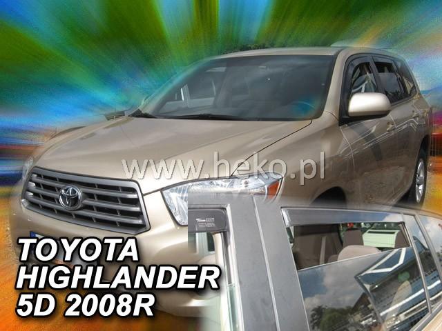 Ofuky oken Škoda Yeti 2009- přední+zadní Heko