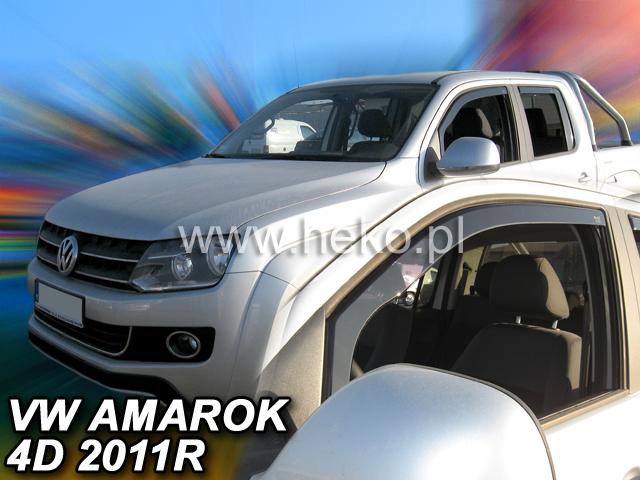 Ofuky oken VW Amarok 4dveř 11- před.+zadní Heko