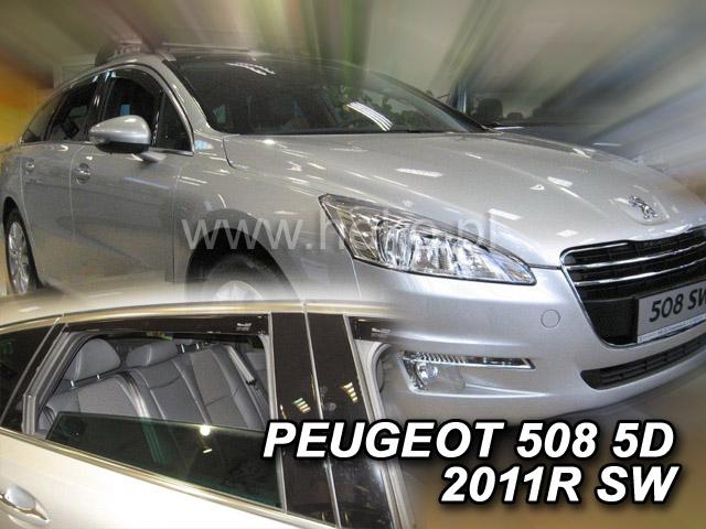Ofuky oken Peugeot 508 4dveř 11- před.+zadní sedan Heko