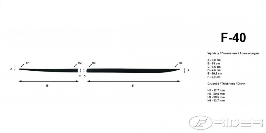 Ofuky oken Peugeot 407 4dveř 04- před.+zadní sw Heko
