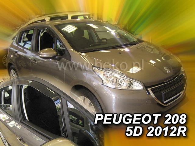 Ofuky oken Peugeot 208 5dveř 12- před.+zadní Heko